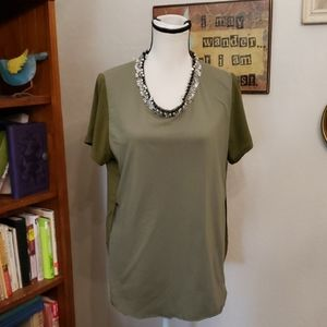 3.1 Phillip Lim Olive Green with beaded neckline 8